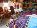 Colorful textiles of the Kutchch