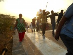 The early morning climb to Palitana