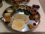 Typical Gujarati thali